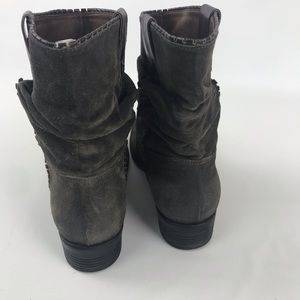 100 Hundred Shoes - Hundred 100 suede leather slouchy mid boots gray